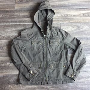 J. Crew Washed Aged Army Utility Jacket Size 2